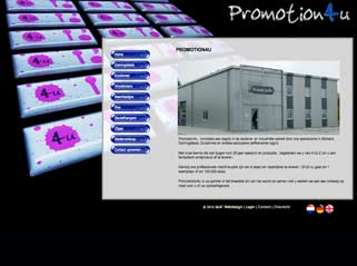 Dynamische website Promotion4u
